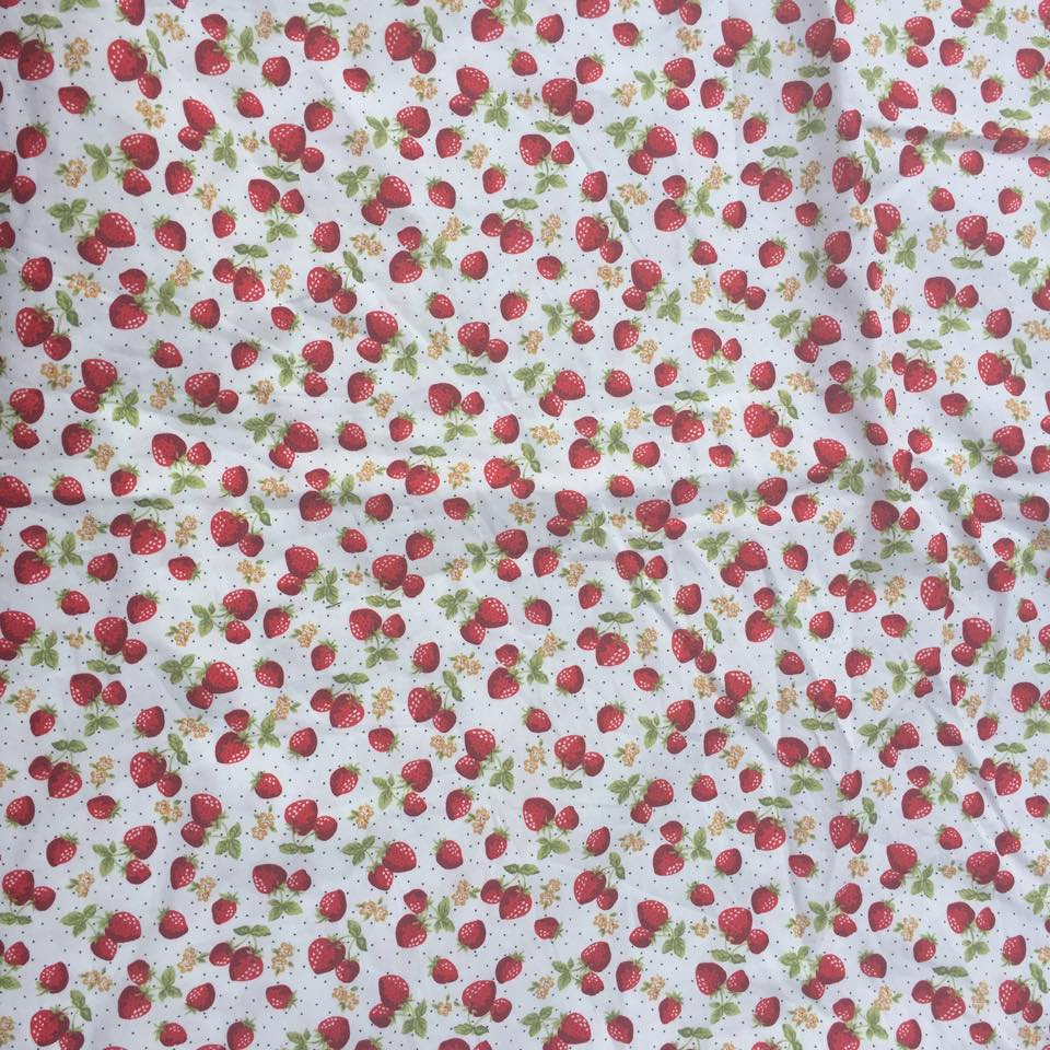 Mini strawberry fabric